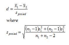 Cohens d formula
